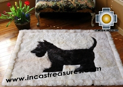 Baby Alpaca Geometric  Fur Scottish Terrier