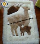 100% Alpaca baby alpaca round fur rug vicugna family - Product id: ALPACAFURRUG10-09 Photo04
