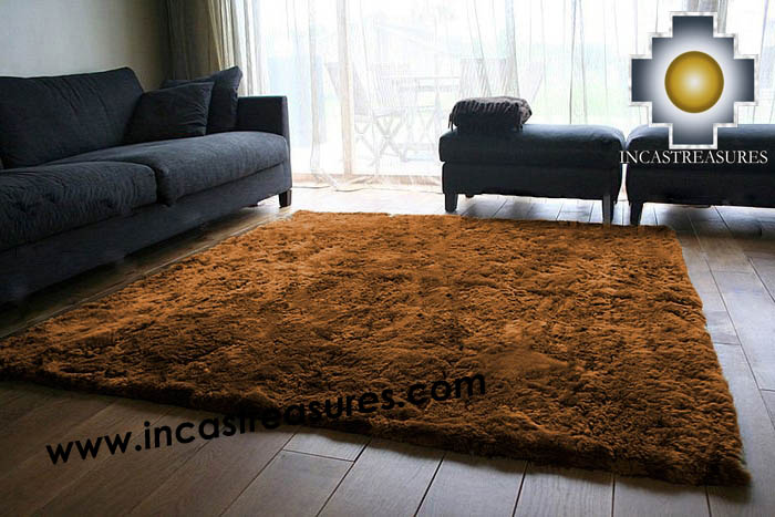 100% baby alpaca fur Rug Borderless Brown - Product id: ALPACA-FUR-RUG-13-07