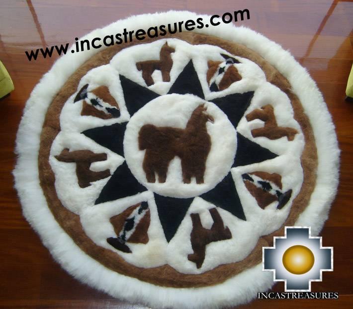 100% Baby Alpaca Round Shape Rugs,alpaca Land , Free Shipping