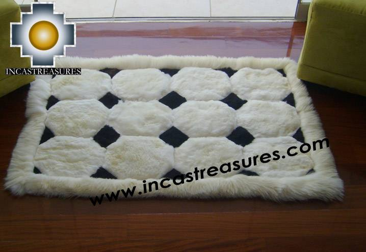 100% Alpaca baby alpaca round fur rug ancha alqa - Product id: ALPACAFURRUG10-05