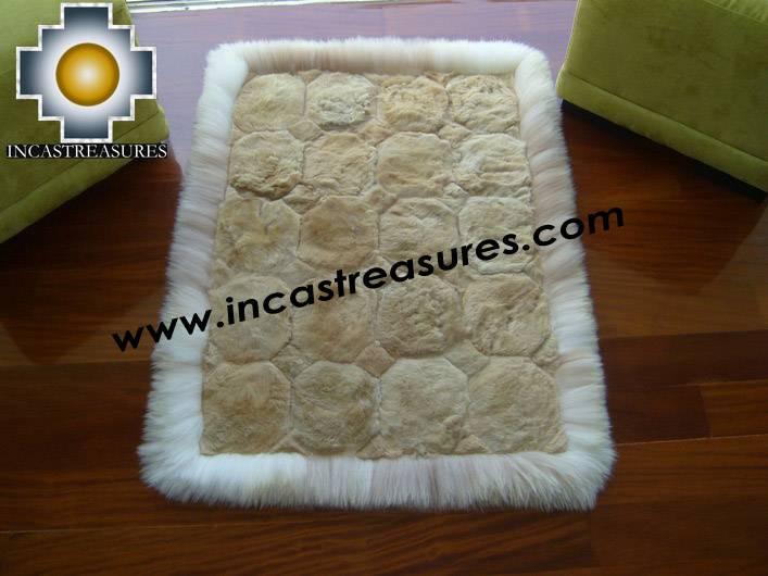 100% Alpaca baby alpaca round fur rug pacha willka - Product id: ALPACAFURRUG10-07 Photo04