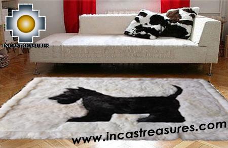 100% Alpaca baby alpaca Scottish Terrier - Product id: ALPACAFURRUG15-01 Photo03
