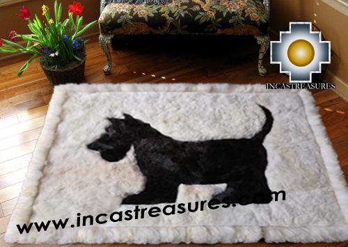 100% Alpaca baby alpaca Scottish Terrier - Product id: ALPACAFURRUG15-01 Photo01