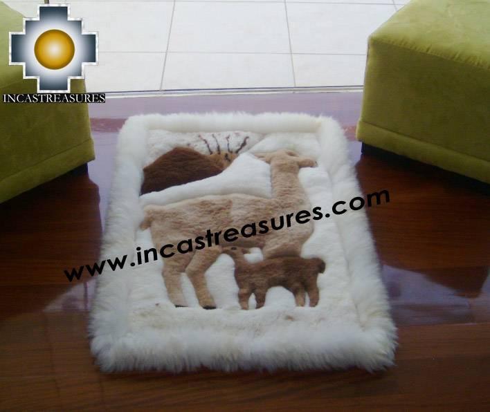 baby alpaca geometric fur rug vicugna-family