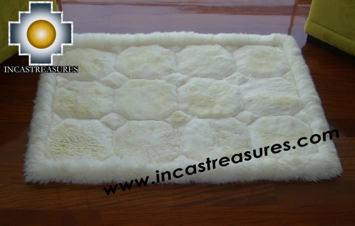 baby alpaca geometric fur rug Waka Willka