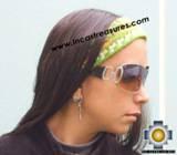 Alpaca Headband Andean Design green -  Product id: Alpaca-Headband10-03 Photo03