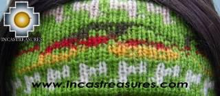 Alpaca Headband Andean Design green -  Product id: Alpaca-Headband10-03 Photo02
