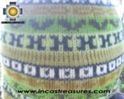 Chullo Hat Andean Design cactus -  Product id: Alpaca-Hats09-20 Photo03