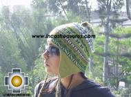Chullo Hat Andean Design cactus -  Product id: Alpaca-Hats09-20 Photo01