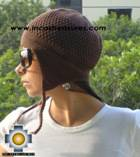 Alpaca Wool Hat Arawi Brown, solid Color Chullo - available in 14 colors - Product id: Alpaca-Hats09-28 Photo03