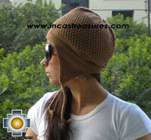 Alpaca Wool Hat Arawi camel, solid Color Chullo - available in 14 colors - Product id: Alpaca-Hats09-29 Photo03