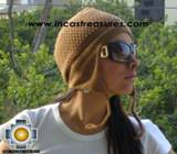 Alpaca Wool Hat Arawi camel, solid Color Chullo - available in 14 colors - Product id: Alpaca-Hats09-29 Photo01