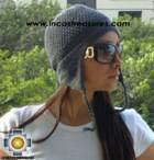 Alpaca Wool Hat Arawi darkgray, solid Color Chullo - available in 14 colors - Product id: Alpaca-Hats09-30 Photo01