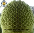 Alpaca Wool Hat Arawi limegreen, solid Color Chullo - available in 14 colors - Product id: Alpaca-Hats09-34 Photo02