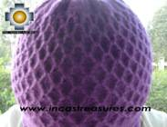 Alpaca Wool Hat Arawi purple, solid Color Chullo - available in 14 colors - Product id: Alpaca-Hats09-37 Photo02