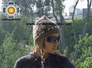 Alpaca Wool Hat Classic Design peru earth -  Product id: Alpaca-Hats09-10 Photo02