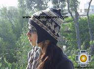 Alpaca Wool Reversible Hat Achachila llama - Product id: Alpaca-Hats09-26 Photo01