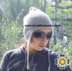 Alpaca Wool Hat solid Color Chullo - available in 12 colors - Product id: Alpaca-Hats09-06 Photo04