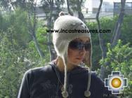 Alpaca Wool Hat with Embroidery Kantuta tiwu  - Product id: Alpaca-Hats09-03 Photo02