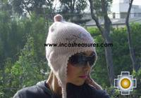 Alpaca Wool Hat with Embroidery Kantuta tikanchasqa  - Product id: Alpaca-Hats09-05 Photo02
