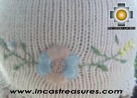 Alpaca Wool Hat with Embroidery Kantuta tikanchasqa  - Product id: Alpaca-Hats09-05 Photo03
