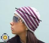 Alpaca Wool Hat worms purple -  Product id: Alpaca-Hats09-45 Photo02