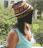 100% alpaca Winter Hat andenes black  -  Product id: Alpaca-Hats12-01 Photo03