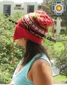 100% alpaca Winter Hat andenes red  -  Product id: Alpaca-Hats12-04 Photo03
