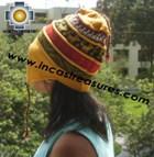 100% alpaca Winter Hat andenes yellow  -  Product id: Alpaca-Hats12-05 Photo03