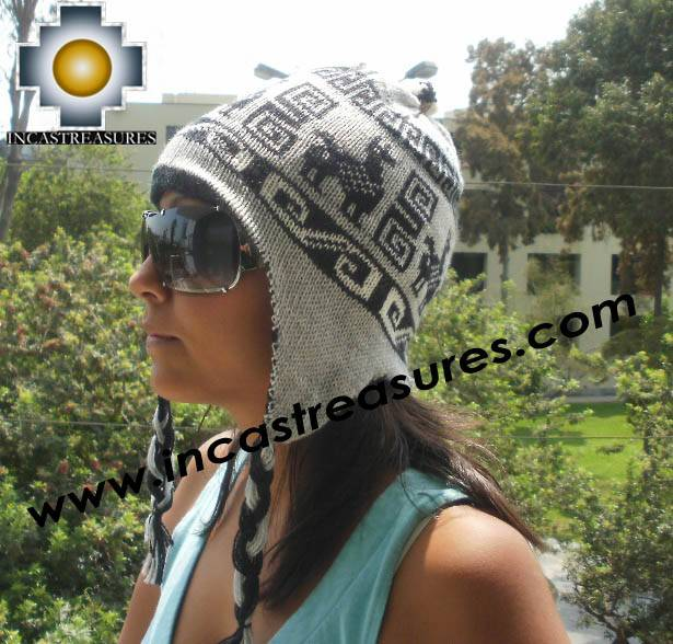 Reversible Chullo Hat andean waves Ite