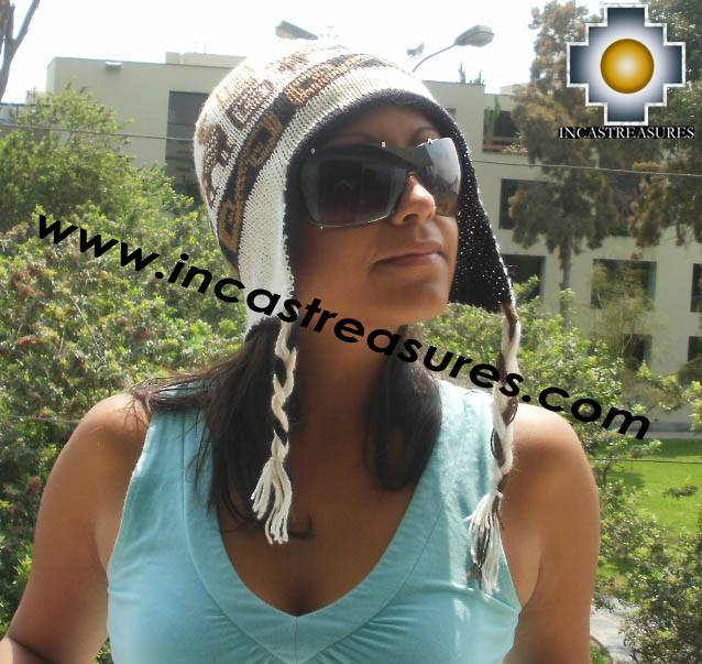 Reversible Chullo Hat andean waves locumba