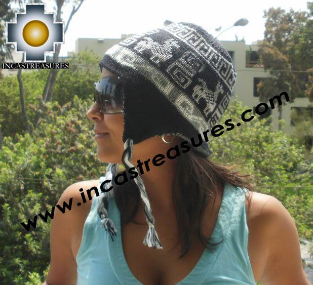Reversible Chullo Hat andean waves omate