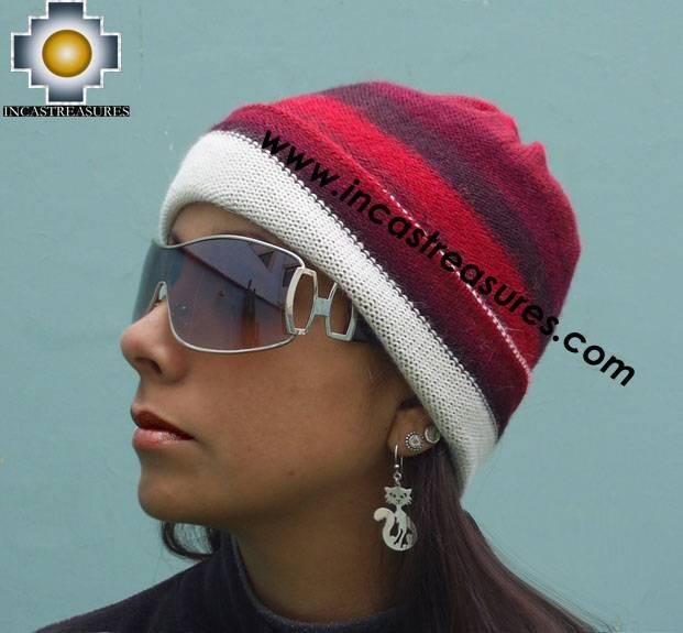 Alpaca Wool Reversible Hat andean dawn - Product id: Alpaca-Hats09-48