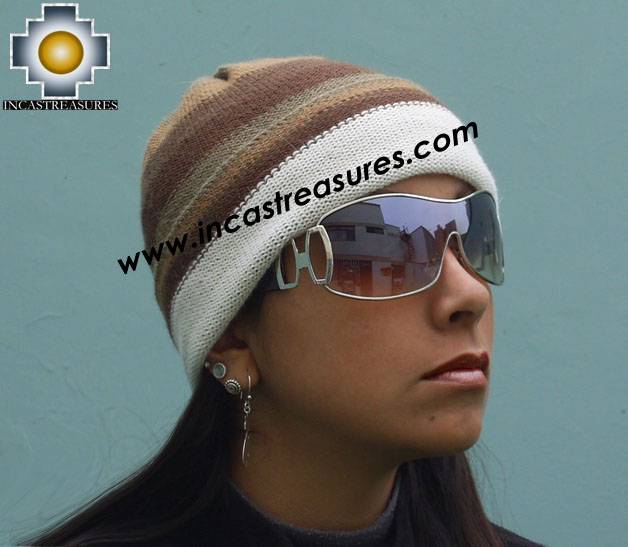 Alpaca Wool Hat Reversible andean Land