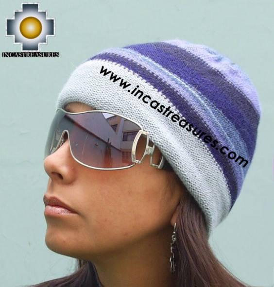 Alpaca Wool Reversible Hat andean sky - Product id: Alpaca-Hats09-47