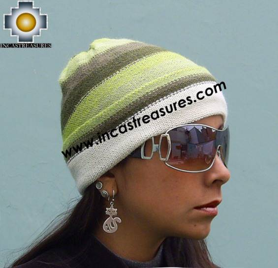 Alpaca Wool Hat Reversible andean Woods