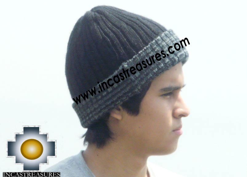 Alpaca Winter Hat reversible Deep Blue Extra Soft - Product id: Alpaca-Hats12-14