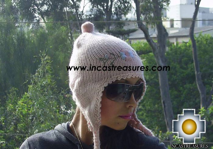 Alpaca Wool Hat with Embroidery Kantuta tikanchasqa  - Product id: Alpaca-Hats09-05