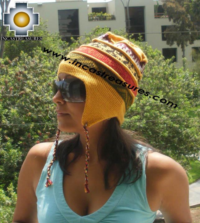 100% alpaca Winter Hat andenes yellow  -  Product id: Alpaca-Hats12-05