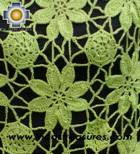 Andean Crochet Poncho Flowers lemon - Product id: crochet-poncho-08 Photo01