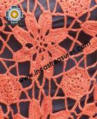 Andean Crochet Poncho Flowers ocre - Product id: crochet-poncho-06 Photo01