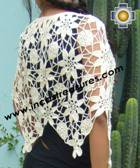 Andean Crochet Poncho Flowers white - Product id: crochet-poncho-09 Photo02