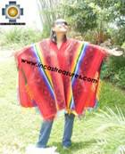 Andean Poncho Hualhua qusqu UNISEX  - Product id:  ANDEAN-PONCHO09-02 Photo03