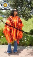 Andean Poncho Hualhua qusqu UNISEX  - Product id:  ANDEAN-PONCHO09-03 Photo03