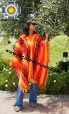 Andean Poncho Hualhua qusqu UNISEX  - Product id:  ANDEAN-PONCHO09-03 Photo02