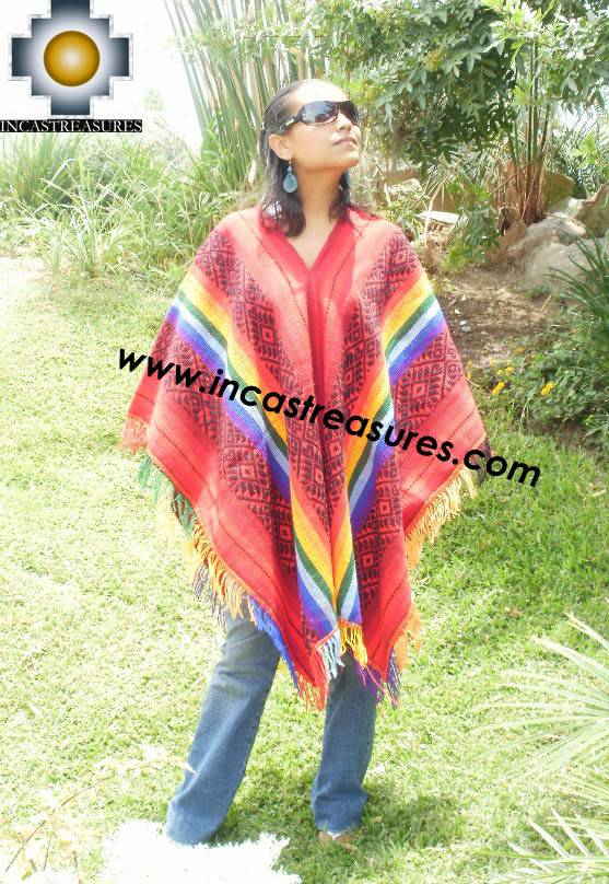 Andean Poncho Hualhua qusqu UNISEX  - Product id:  ANDEAN-PONCHO09-02