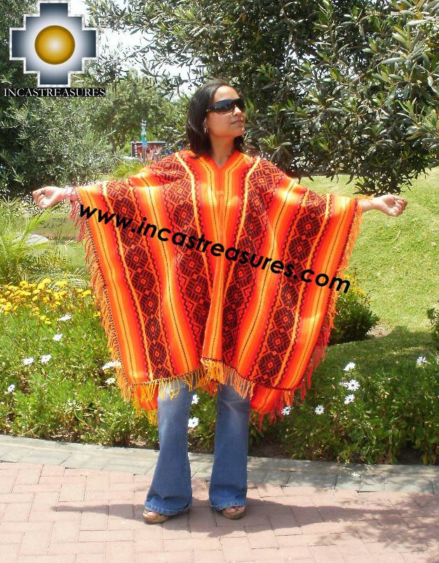 Andean Poncho Hualhua qusqu UNISEX  - Product id:  ANDEAN-PONCHO09-03