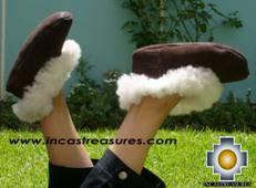 SHEEPSKIN SLIPPER brown HUASCARAN - Product id: SLIPPERS09-01 Photo05