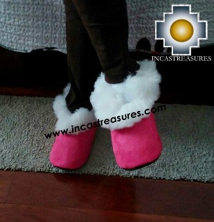 Sheepskin Slipper Fucsia Kusiy
